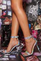 Quiz Iridescent Flare Heeled Sandal