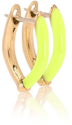 Melissa Kaye Cristina Small 18kt gold hoop earrings