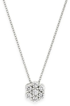 Bloomingdale's Diamond Cluster Pendant Necklace in 14K White Gold, 0.15 ct. t.w. - 100% Exclusive
