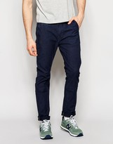 Lee Chino Trousers Slim Fit In Stretch Indigo Canvas