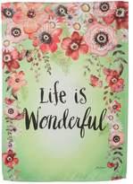 """Evergreen Life Is Wonderful"""" Indoor / Outdoor Garden Flag"""