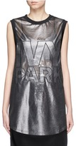 Ivy Park Logo embroidered metallic tank top