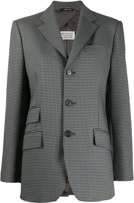 Maison Margiela Single Breasted Gingham Blazer
