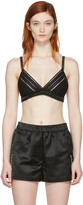 3.1 Phillip Lim Black Ladder Trim Bra
