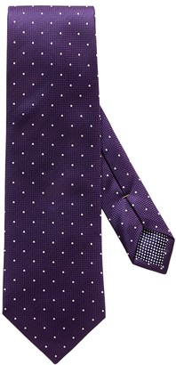 Eton Purple Polka Dot Silk Tie