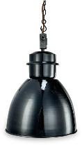 Nkuku Black Industrial Pendant - Medium - Black