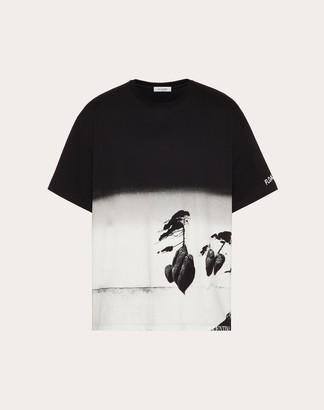 Valentino Floating Island Print T-shirt Man Multicolored Cotton 100% L