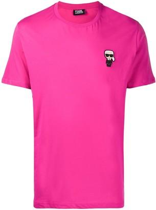 Karl Lagerfeld Paris logo-patch crew neck T-shirt