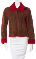 Balmain Shearling Collared Jacket