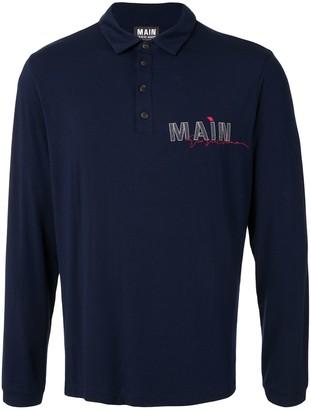 Giorgio Armani Logo Long Sleeve Polo Shirt