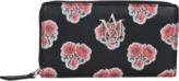 Alexander McQueen Poppies Insignia Monogram zipped wallet