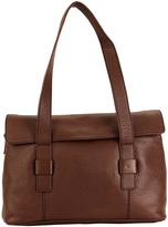Hadaki Cognac Hannah's Leather Messenger Bag