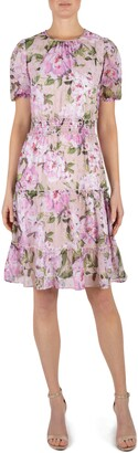 Julia Jordan Short Sleeve Floral Printed Dress