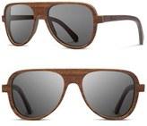 Shwood 'Medford' 56mm Polarized Wood Sunglasses