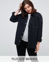 Alice & You Denim Jacket With Stud Seam And Pocket