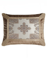 "Dian Austin Couture Home Paisley Parquet Pieced Pillow, 19"" x 16"""