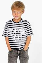 Boohoo Boys Striped New York City T Shirt