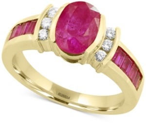 Effy Amore by Certified Ruby (2-1/5 ct. t.w.) and Diamond (1/8 ct. t.w.) Ring in 14k Gold, Created for Macy's