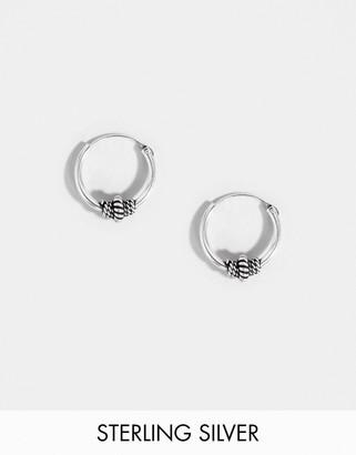 Kingsley Ryan sterling silver 10mm wire wrapped hoop earrings