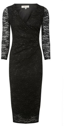 Dorothy Perkins Womens Billie & Blossom Tall Black Lace Pencil Dress, Black