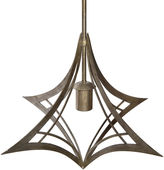 John-Richard Collection Akashi Suspended 1-Light Pendant, Silver