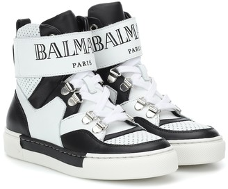 Balmain Kids Leather sneakers