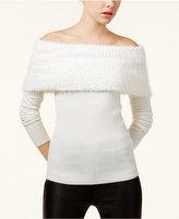 XOXO Juniors' Off-The-Shoulder Sweater