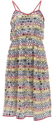 Ashish Mirror-applique Skinny-strap Dress - White Multi