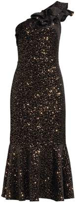 Shoshanna Evadene One Shoulder Dress