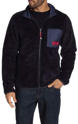 Scotch & Soda Contrast Teddy Fleece Shirt Jacket