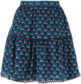 Kenzo geometric print skirt - women - Silk - 36