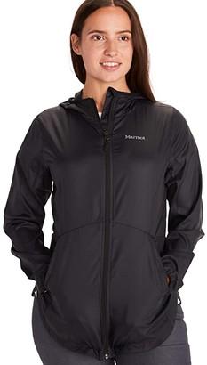 Marmot Trail Wind Hoodie (Black) Women's Coat