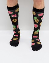 Urban Eccentric Socks With Fruit Print