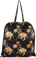 Dries Van Noten floral backpack - women - Cotton/Leather/Viscose - One Size