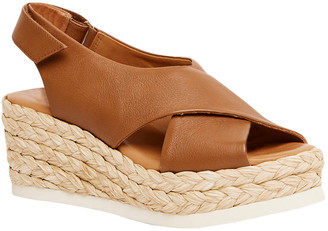 Andre Assous Corbella Leather Wedge Sandal