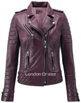 London Craze LondonCraze Women New Biker Leather Jacket XXL