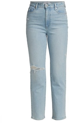 Paige Noella High-Rise Destructed Straight Jeans