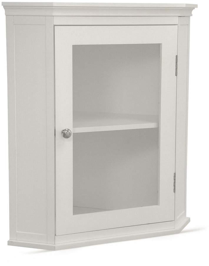 Elegant Home Fashions Madison Avenue Corner Wall Cabinet