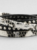 Alexandra Beth Designs Snakeskin Leather Wrap Bracelet