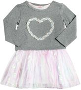 Billieblush Cotton Dress Dress W/ Lurex Heart