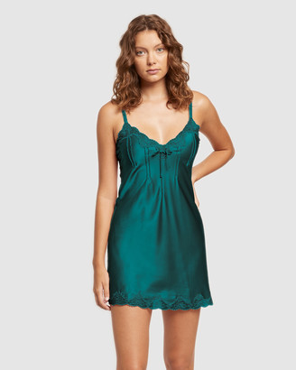 Ginia Silk Chemise with Pintucks and Lace