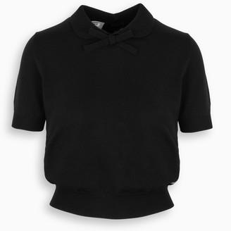 Miu Miu Black knitted top