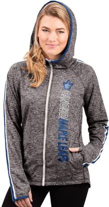 G Iii Women's G-III 4Her by Carl Banks Heathered Gray Toronto Maple Leafs Free Agent Full-Zip Hoodie
