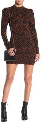 Jealous Tomato Long Sleeve Tiger Stripe Bodycon Dress