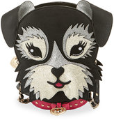 Betsey Johnson Kitsch Fritzy Dog Crossbody Bag, Black