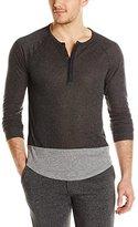 Alternative Men's Eco-Splash Shirttail Henley Shirt