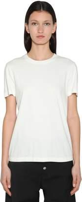 MM6 MAISON MARGIELA Logo Embroidered Cotton Jersey T-shirt