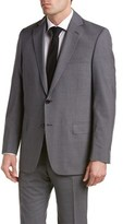 Hart Schaffner Marx Wool-blend Suit With Flat Front Pant.