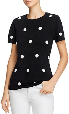 Bloomingdale's C by Cashmere Polka-Dot Sweater - 100% Exclusive
