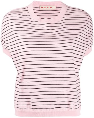 Marni Striped Knitted Top